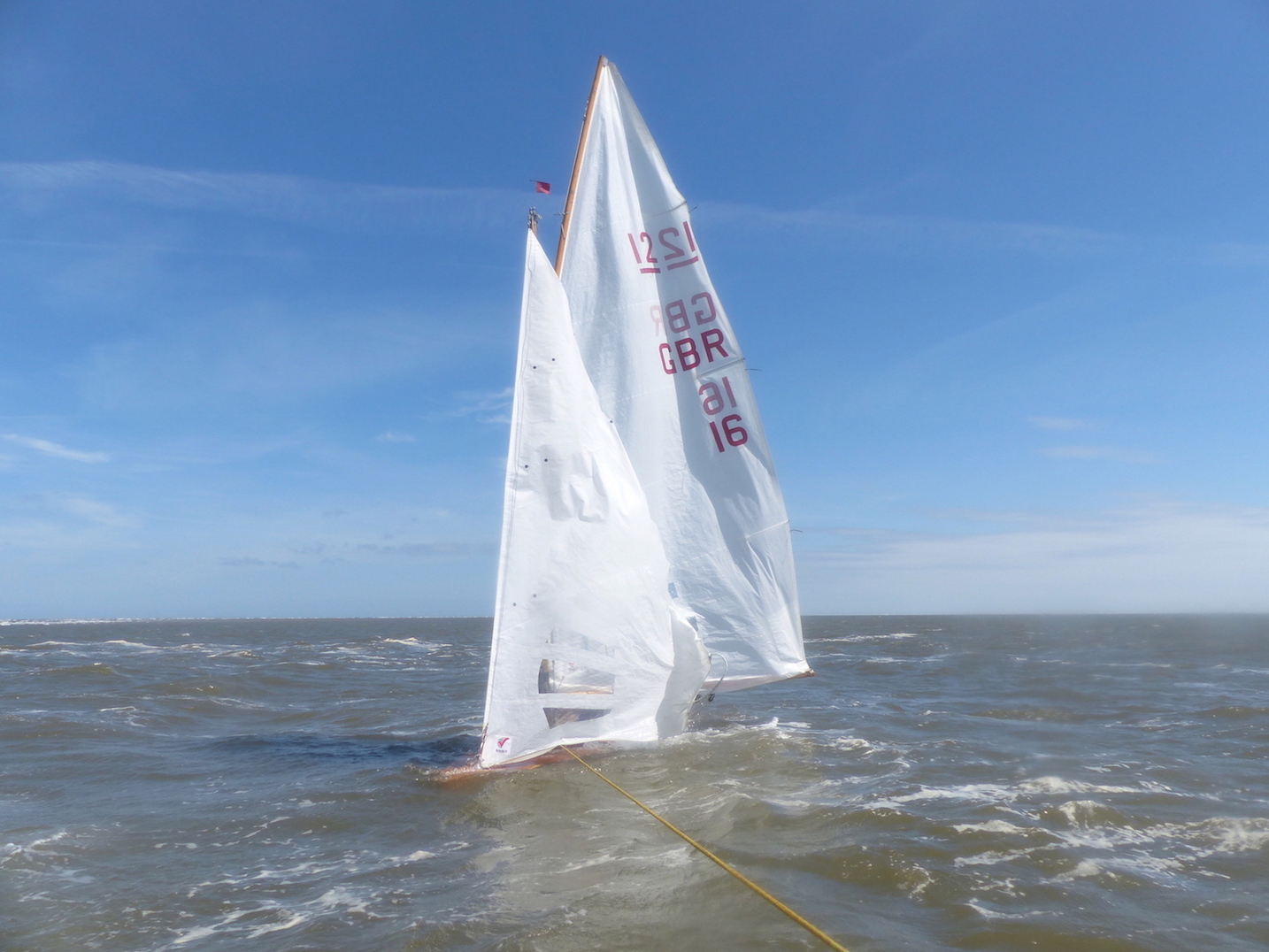 WSC GBR sunk but upright